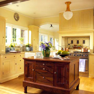 Cabinets for kitchen kitchen cabinets what color should for Blue kitchen cabinets with yellow walls