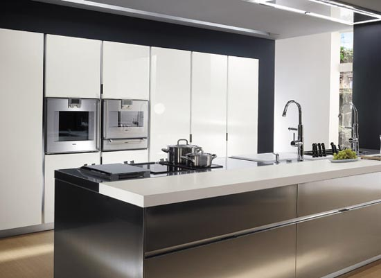 Italian Stainless Steel Kitchen Cabinets