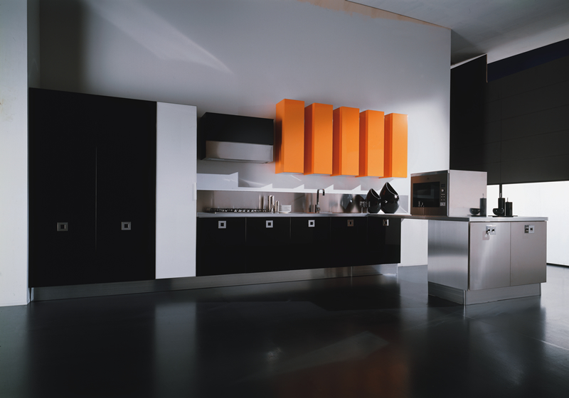Cabinets for kitchen modern black kitchen cabinets for Black kitchen cabinet design ideas