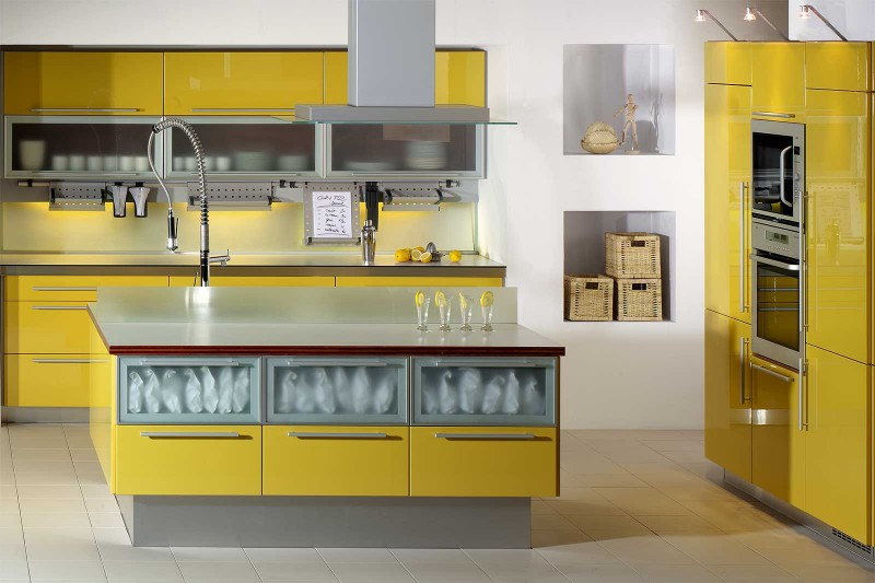 Yellow Kitchen Cabinets ~ Kitchen Design  Best Kitchen Design Ideas