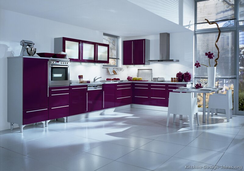kitchen cabinet designs on Cabinets for Kitchen: Purple Kitchen Cabinets Ideas