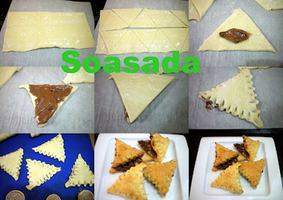 Picos de chocolate Triangulos