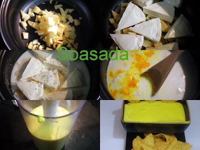 Nachos (Totopos) con salsa de queso Nachos