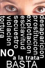 No a la trata de seres humanos.