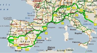 Europa - Viagem pelo Sul da Europa 2008 Croatiamap