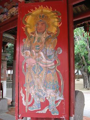 開元寺三川門門神画(蔡草如)