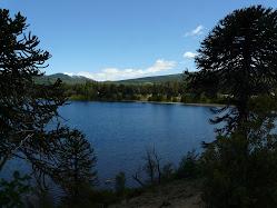 Vista del lago en las inmediaciones de la cabaña