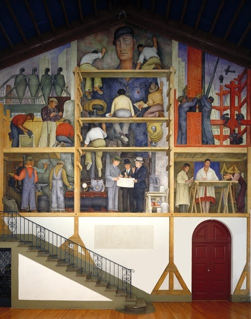 Balanced obsessions diego rivera for Diego rivera mural in san francisco