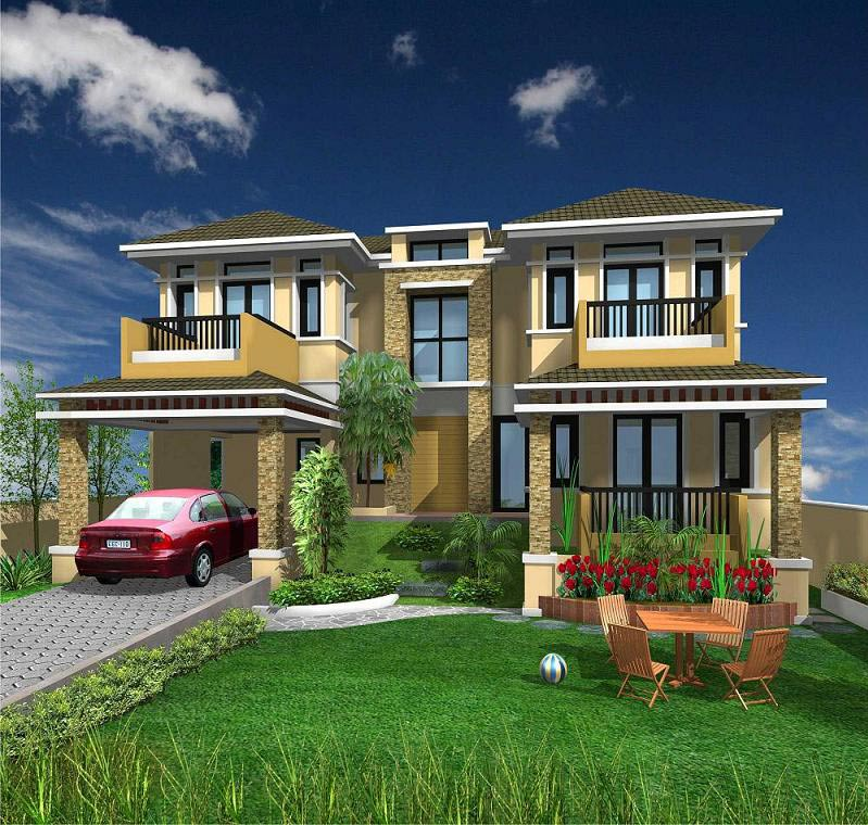 Modern Villas Elevations   AxSoris