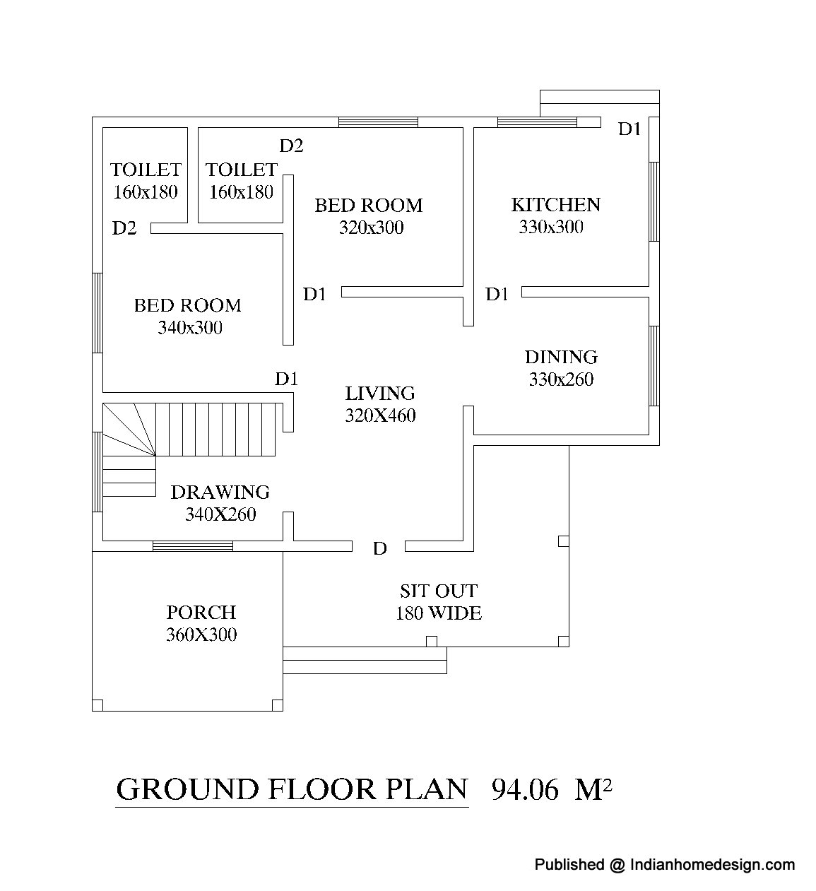 House floor plans free for india woodworker magazine for 4 bhk house plan ground floor