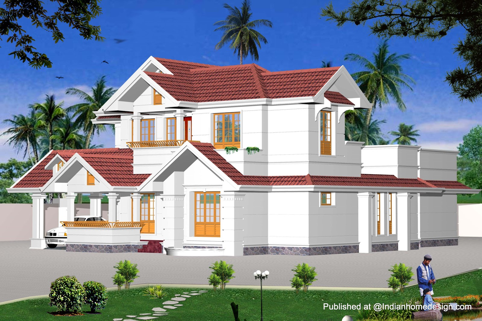 100+ [ indian house plans ] | bedroom kerala style house square
