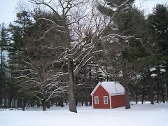 Casinha de teto branco