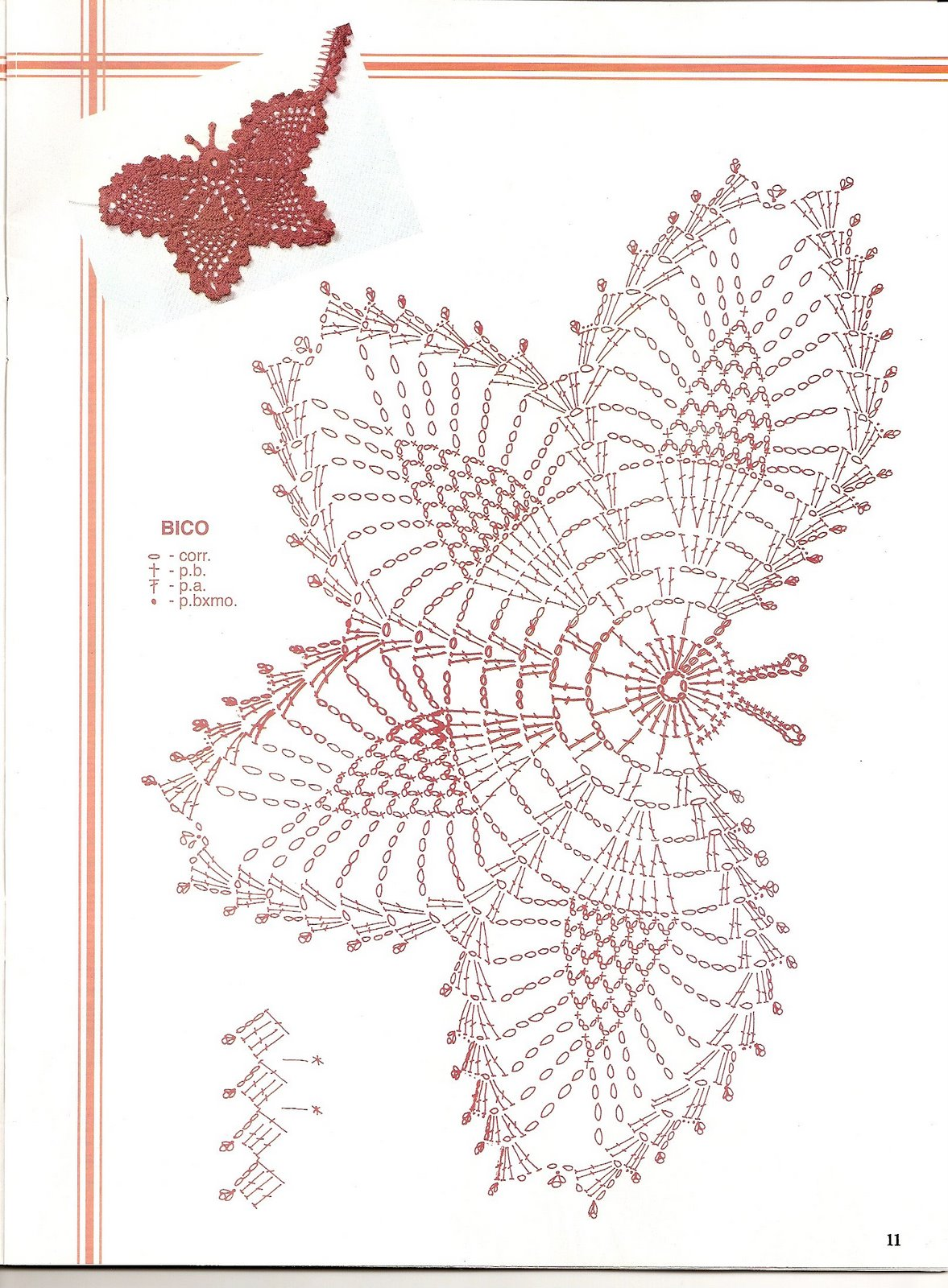 Вязание крючком мотивов и бабочек