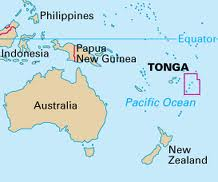 Map of Tonga in the South Pacific