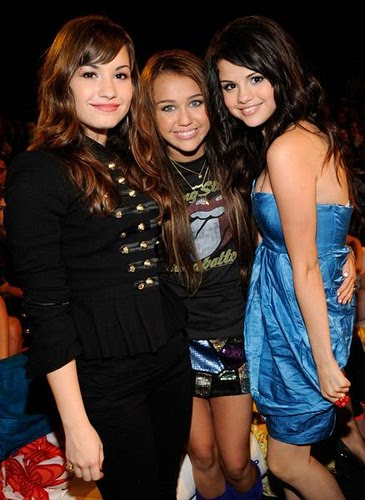 selena gomez demi lovato and miley cyrus. Demi Lovato and Miley Cyrus