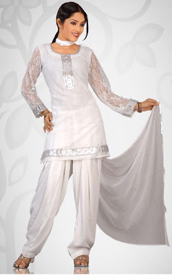 White salwar kameez for women   MG Fashion Hub