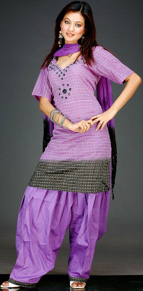 Patiala+Salwar+Kameez+ +Cotton+Salwar,+Punjabi+Design Patiala Salwar Kameez