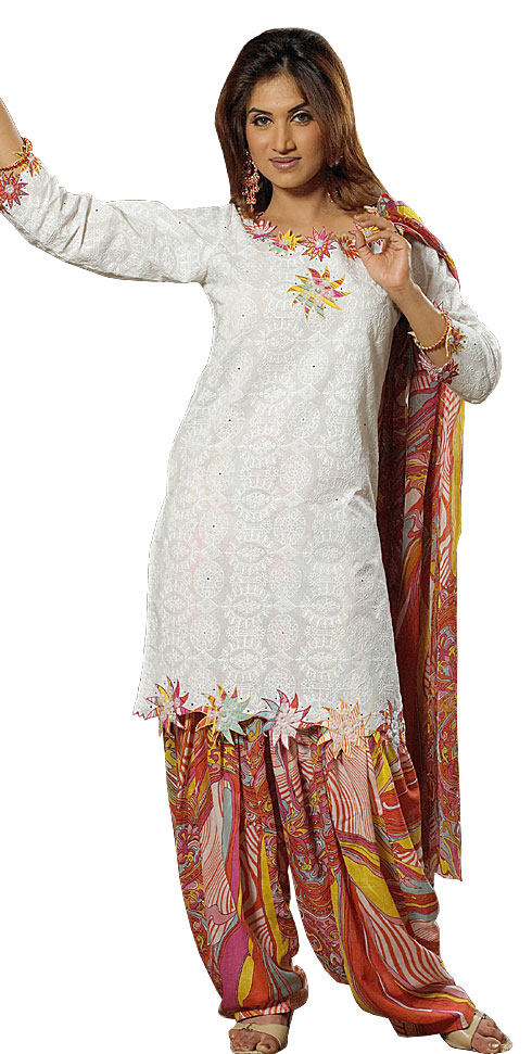 of punjabi dresses this punjabi salwar kameez with small puckers on
