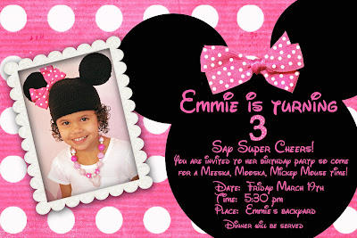 Emmies 3rd Birthday Party Was The Playhouse Disney Theme Which Is Mickey Minnie And Friends Emmie Dressed Like Mouse