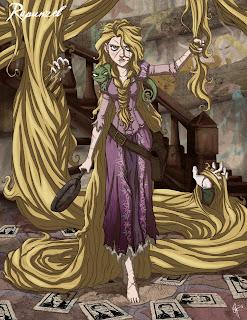 Rapunzel sangre, Rapunzel, Rapunzel terror