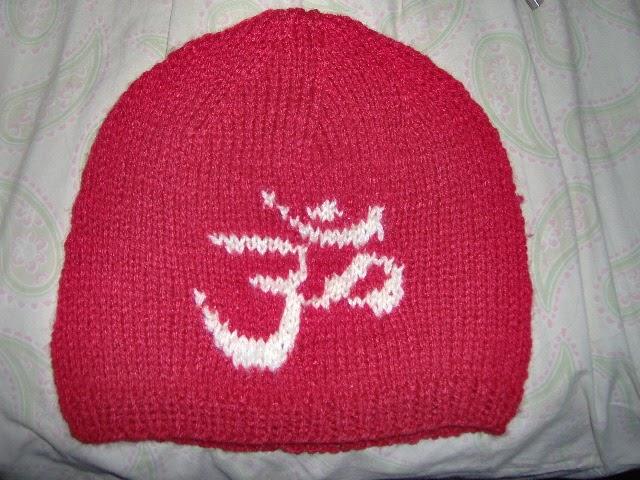 Knitting Pattern For Flat Hat : Kody May Knits: Hindu Aum (Om) Flat Knitted Hat Pattern