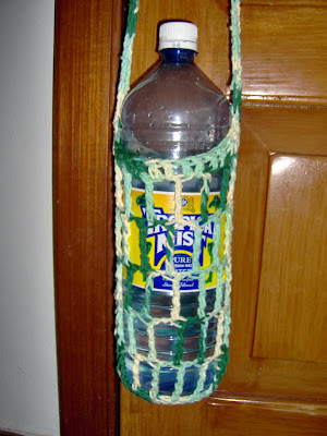 Scrap Crochet Patterns, Crocheted Water Bottle Carrier