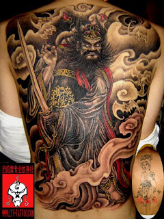 Chinese and Japanese Tribal Dragon Tattoos