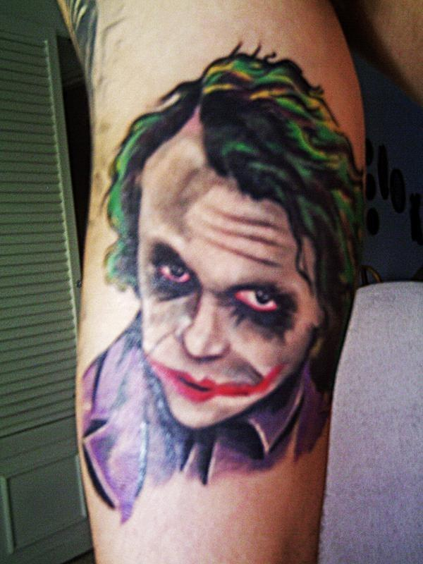 Corey Taylor's Joker Tattoo. 02.09.2009. Big thanks to Crystal (tinnitus)