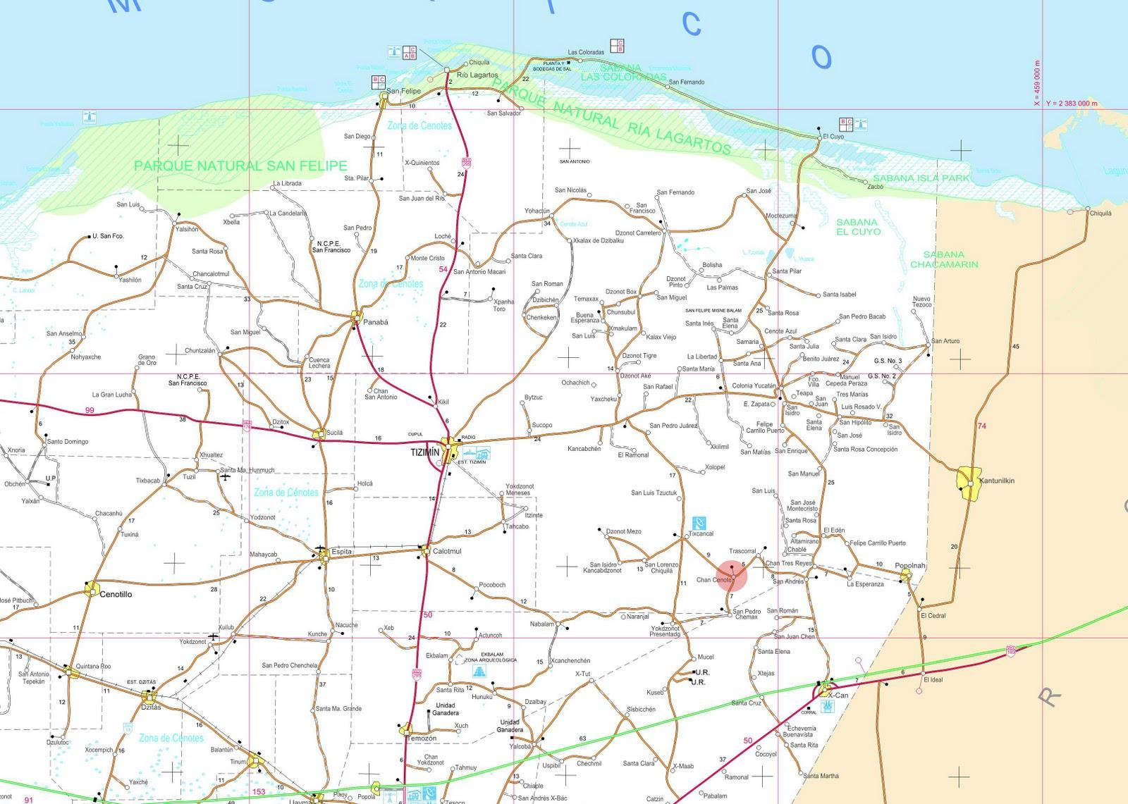 Carreteras De Yucatan Mapa