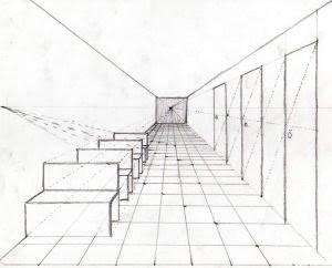 Clase a lapiz perspectiva 2 ejemplos - Habitacion en perspectiva conica ...