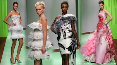 Feathers in Couture Collections by Lebanese Designers