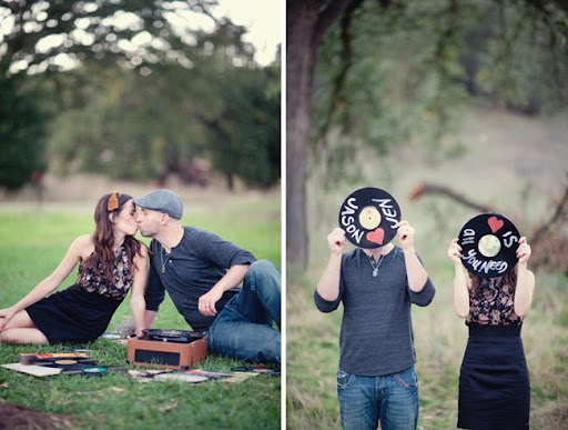 writing on records styled by jen campbell green wedding shoes