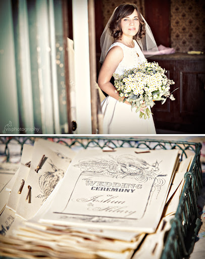 wedding programs with sticks
