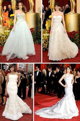 penelope cruz dress. White Oscar Dresses