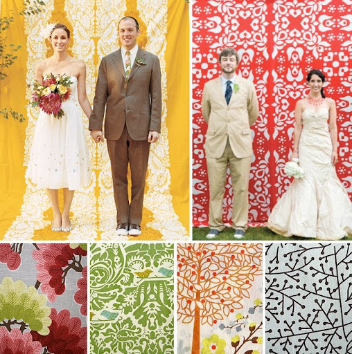 fun fabric photo booth for your wedding