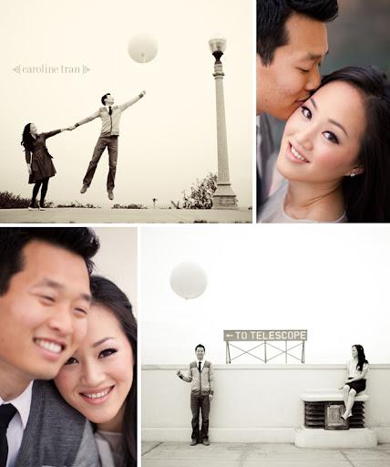 balloon engagement photo