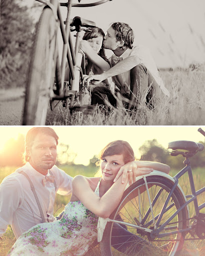 vintage inspired engagement session from simply bloom photography