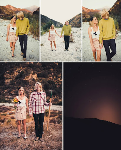 engagement photos riverside California American gothic
