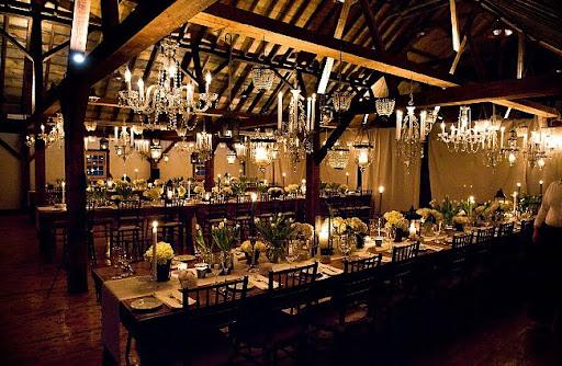 vintage rustic romantic wedding reception