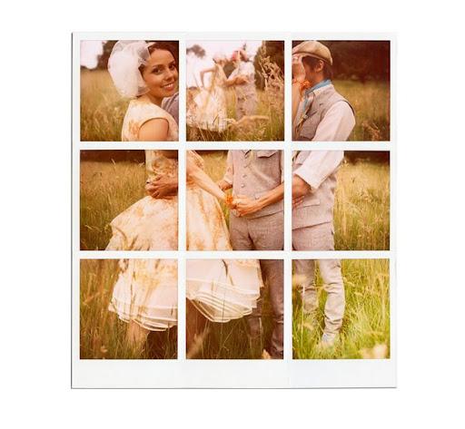 polaroid collage vintage couple
