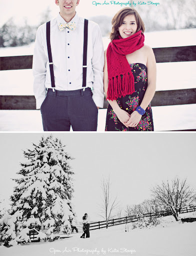 winter engagement snow scarf