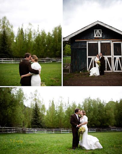 wedding with a barn