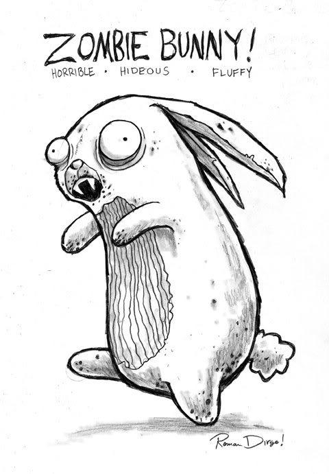 Cartoon Zombie Bunny