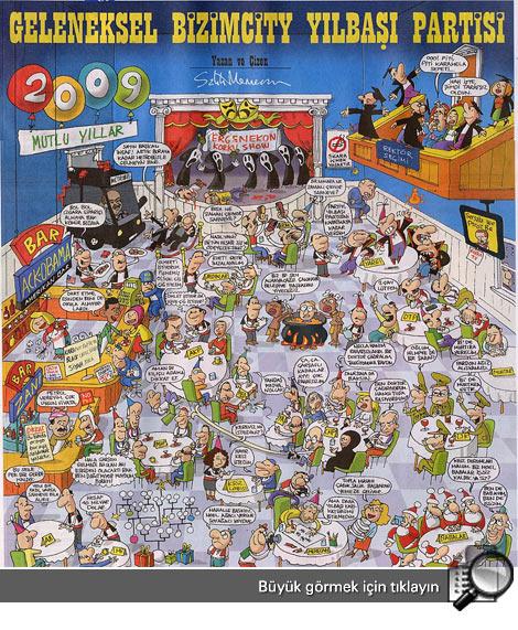 Yılbaşı noel baba karikaturleri 2012