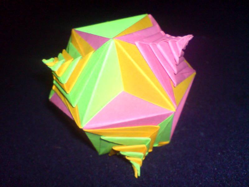 crazy crafts origami spiral modular