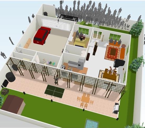 Defensive home floor plans