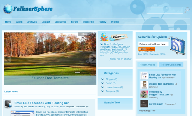 Falkner Sphere Blogger Template