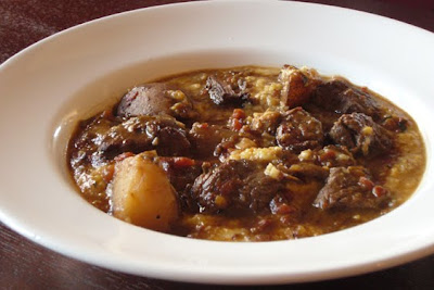 beef stew and polenta