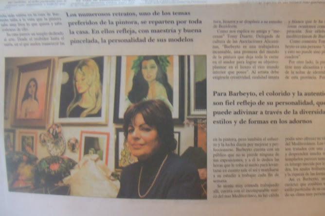 """DIARIO """"LA PRENSA"""" DE ALICANTE-ENTREVISTA-BARBEYTO"""