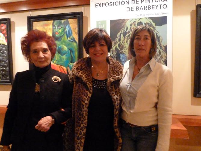 VISITAS A LA EXPOSICION DE BARBEYTO EN EL CORTE INGLES DE ALICANTE
